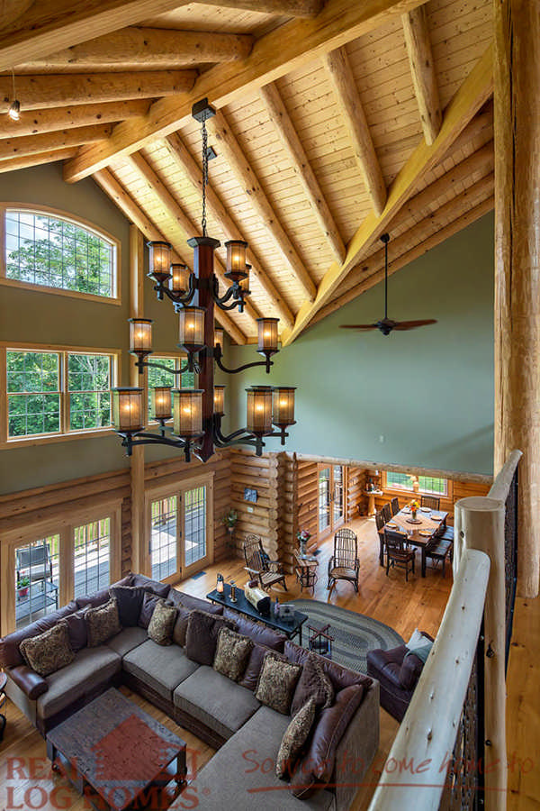 Big river lodge floor plan by real log homes for Clearbrook lodge