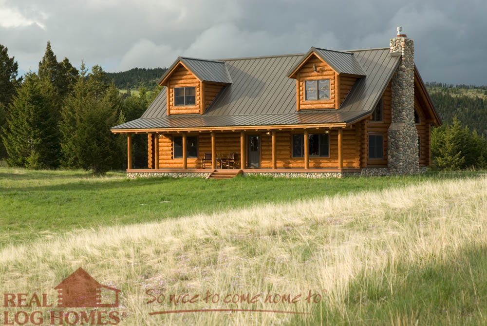 Montana cabin floor plan by real log homes for Montana home builders