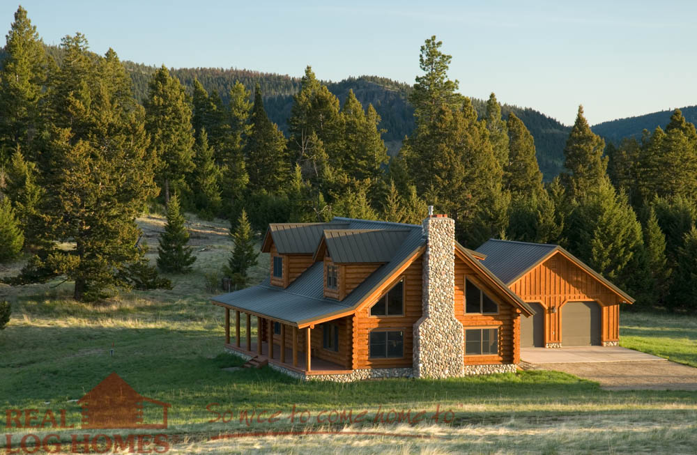 Montana cabin floor plan by real log homes for Montana style house plans