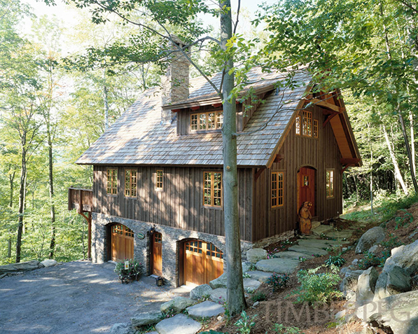 Hawk mountain timber frame floor plan by timberpeg for Timber frame cottage