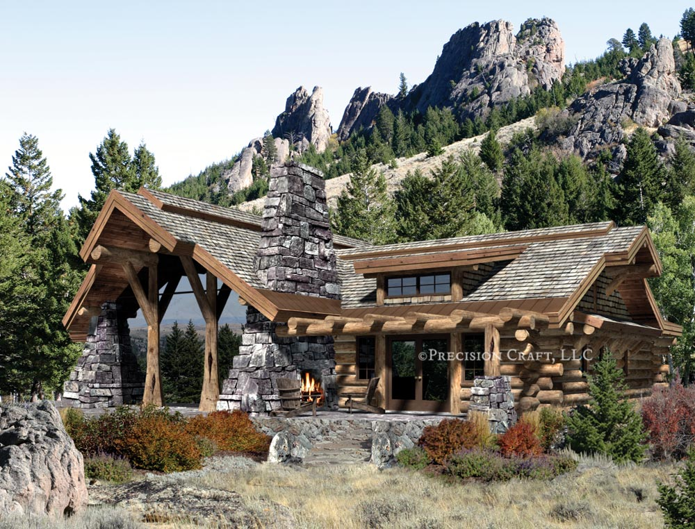 Precisioncraft log timber homes archives for Log cabins homes