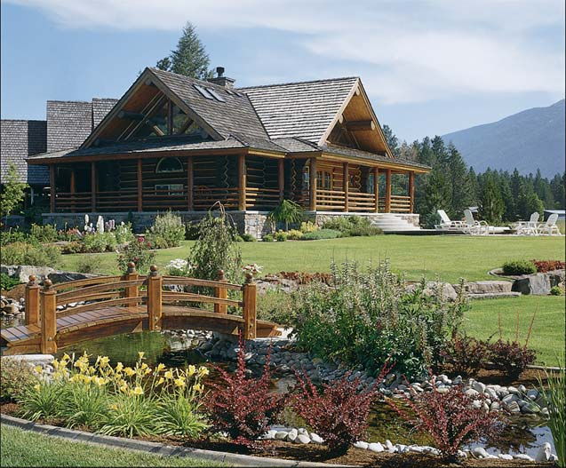Affordable luxury for log homes 12 ways to add luxury to for Cheap luxury homes