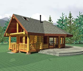 Small log homes design contest 5 aspen meadow by summit for Aspen home design
