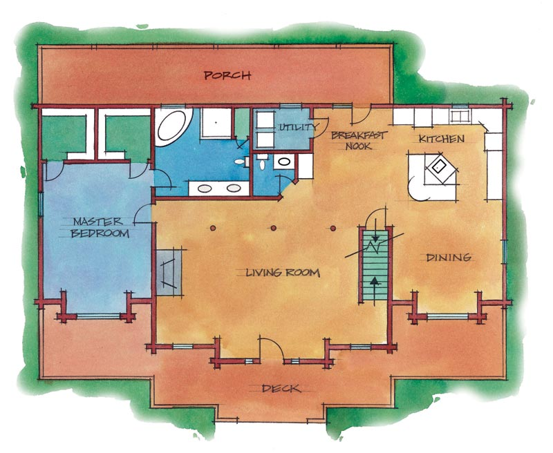 Flexible Floor Plans Creating Custom Log Home Plans From