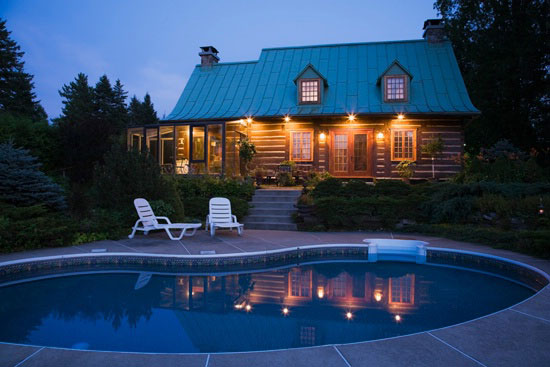 Northeastern log homes archives for Northeastern pool