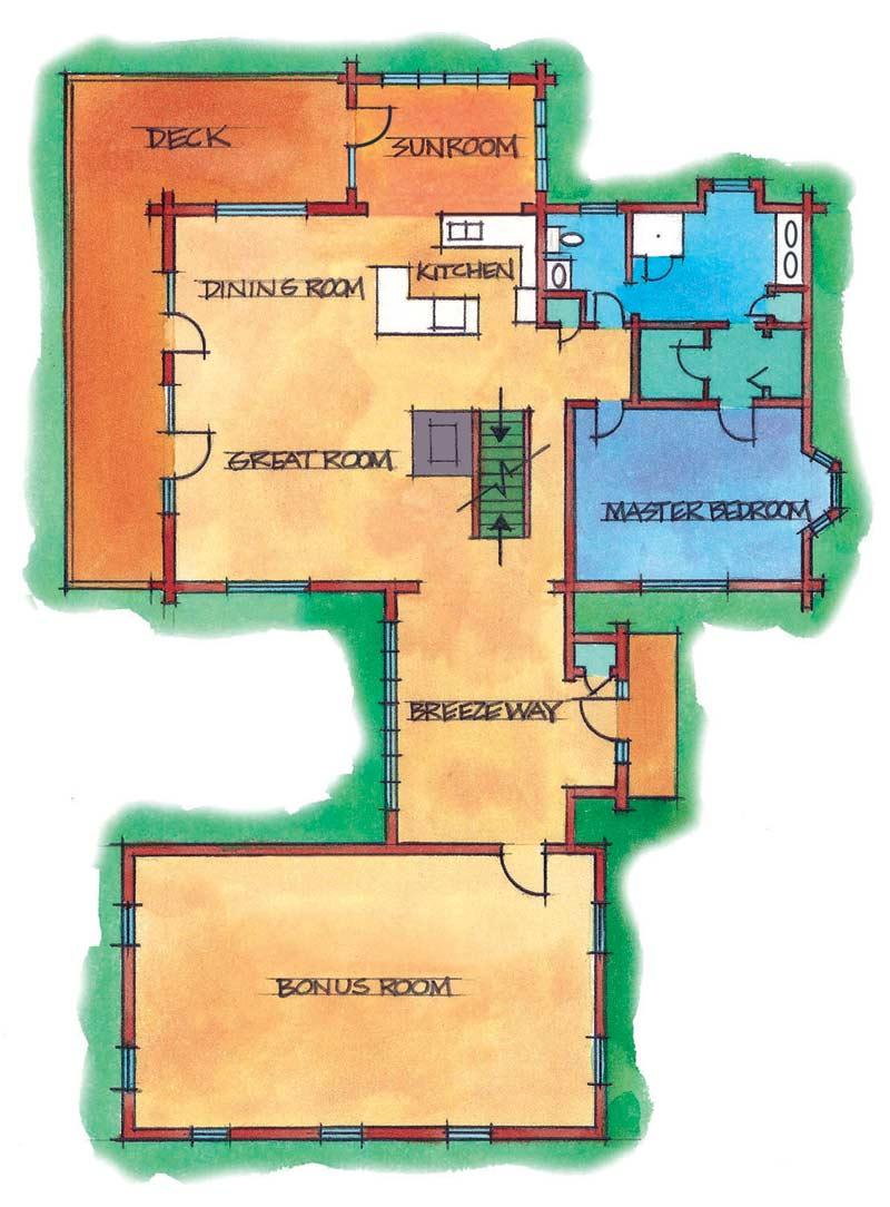 Flexible floor plans customizing a real log homes floor for Real log homes floor plans