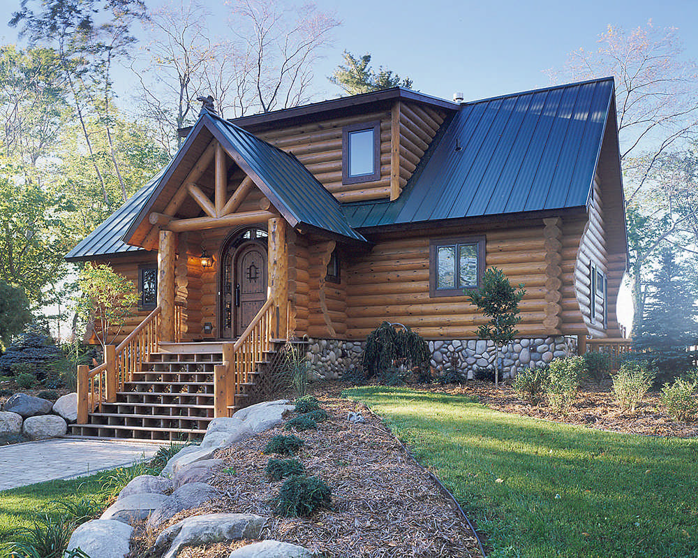 ^ Modern Log Home Plans rchives - MyWoodHome.com