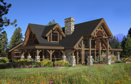 Modern log home floor plans for Contemporary log home designs
