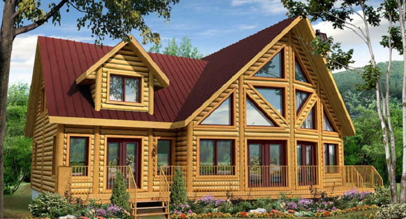 The Labrador Log Home Floor Plan By Timber Block Log Homes
