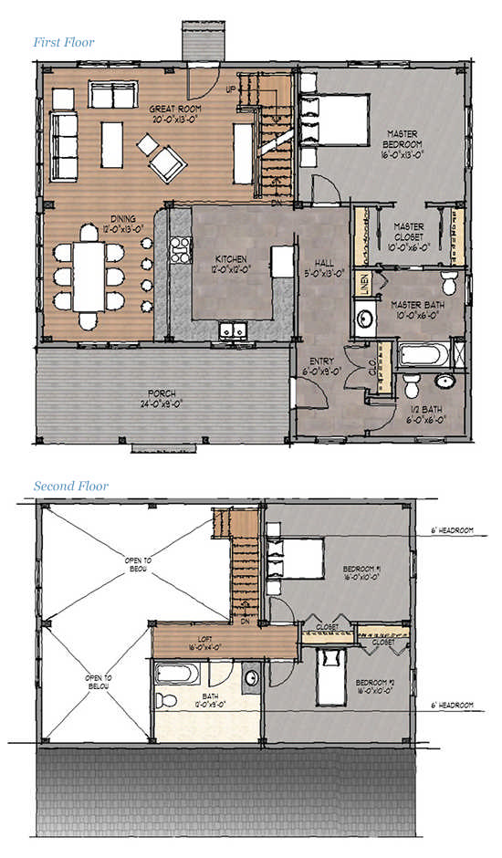 Classic Homestead Timber Home Floor Plan By Davis Frame