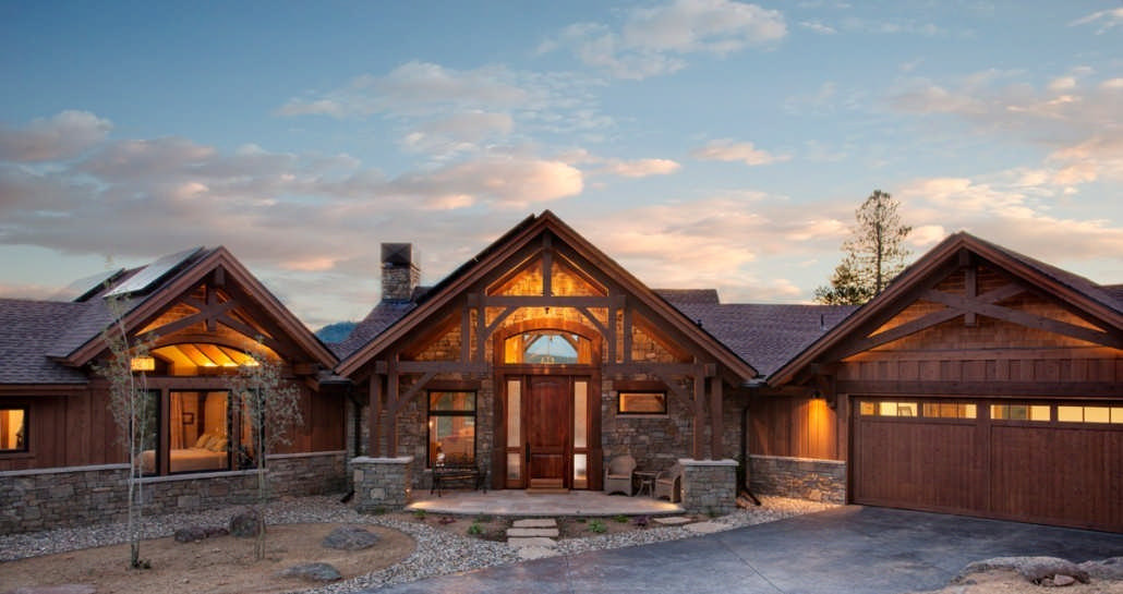 Colorado timberframe for Timber frame ranch home plans