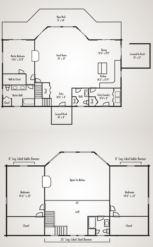 Custom craftsman 1 lagios homeplan by coventry log homes for Coventry homes floor plans