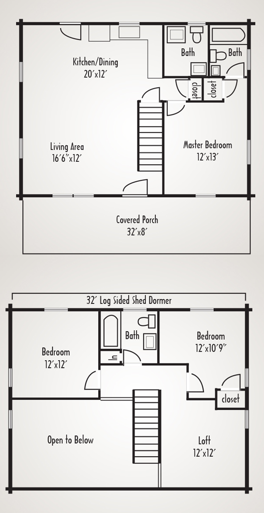 Mountain lakes home plan by coventry log homes inc for Coventry homes floor plans