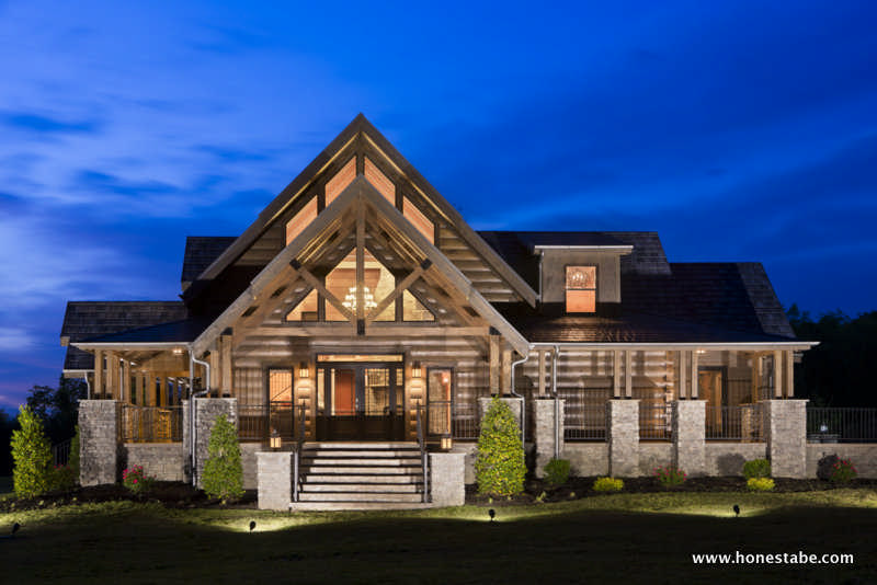 Cambridge log home plan by honest abe log homes inc for Timber frame house plans for sale