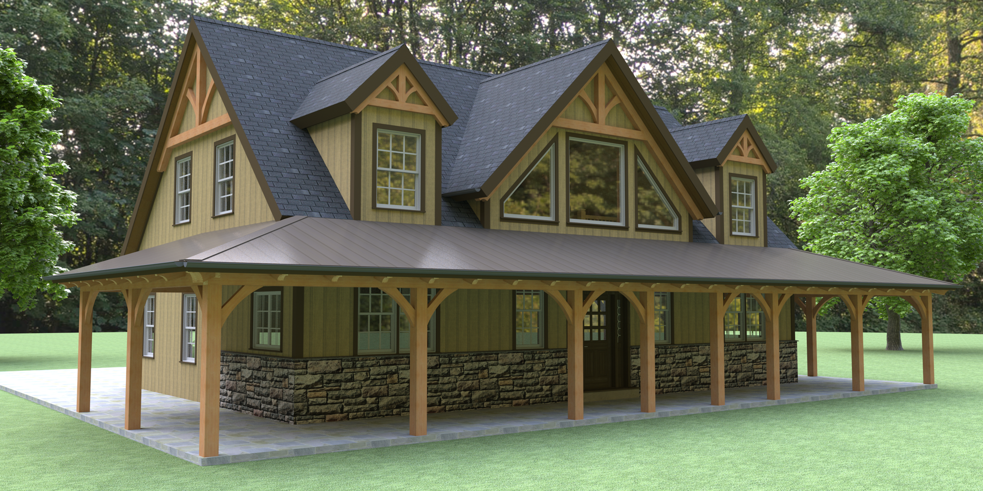 Modern log home floor plans for Contemporary log home plans