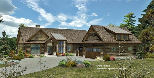 Crown Pointe II Wisconsin Log Homes