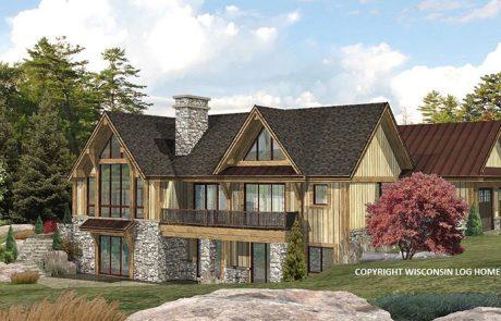 Lakefront Log Home Design by Wisconsin Log Homes