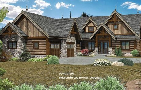 Longview Log Home Design by Wisconsin Log Homes