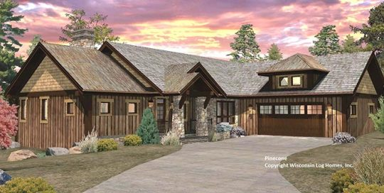 pinecone log home by Wisconsin Log Homes