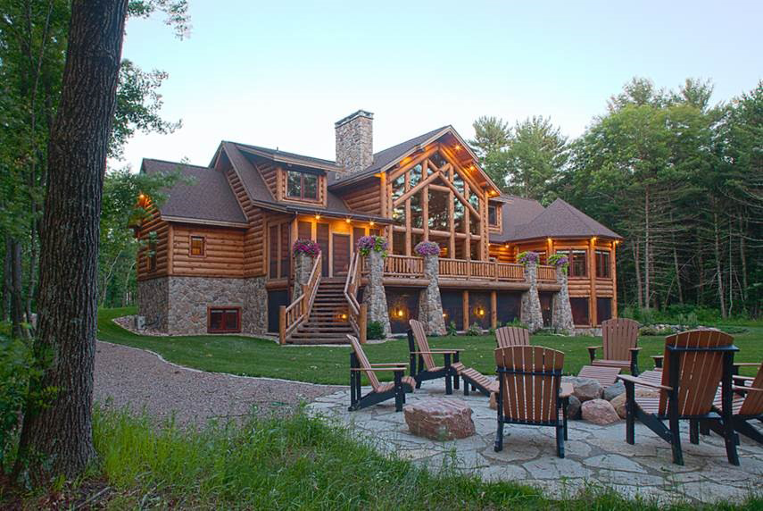 wisconsin log homes floor plans archives - mywoodhome
