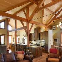 tyee log and timber interior