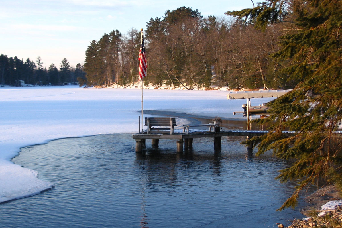 how to build a winter proof dock on the lake