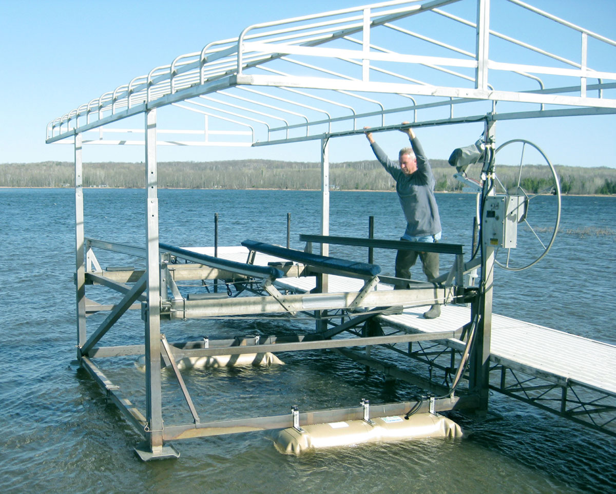 MOVE YOUR BOAT LIFT EASILY u2013 Repositioning or moving your lift is not a one-person job. A new product called The Boat Lift Helper (.boatlifthelper.com) ... & Boat Lift Maintenance Tips