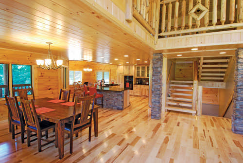 Would You Like To Lighten Up The Interior Of Your Cabin? The Warm Tones Of  Tongue And Groove Woodwork Can Help You Do Just That. Dreamstime.com ...