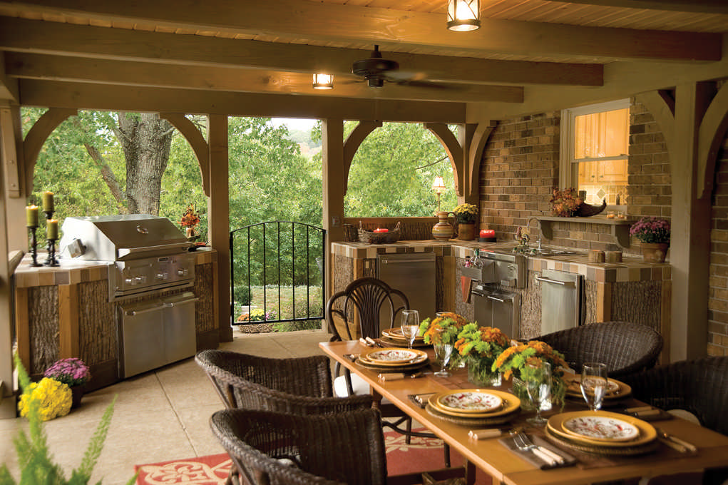 Two Paths To A Great Outdoor Kitchen Delectable Cabin Kitchen Design Style
