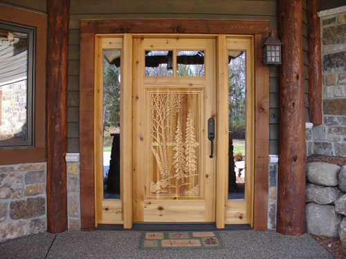 Lodge Style Doors : Gorgeous entry doors