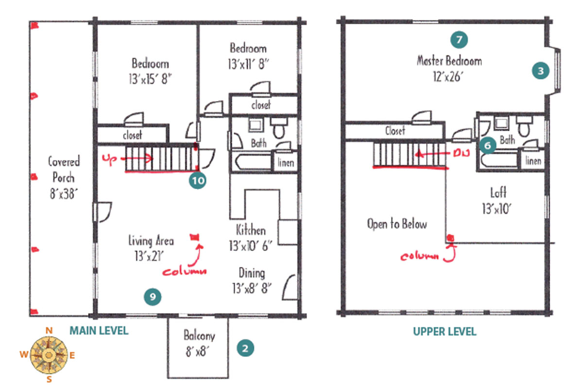 how to customize a cabin floor plan cabin living 5 mechanical space is needed for the water heater furnace and energy recovery ventilator this equipment could be placed in the closet on the lower level