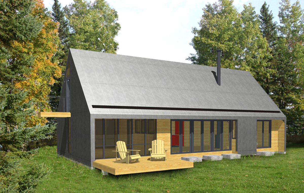 Hermit camp home plan for Camp house plans