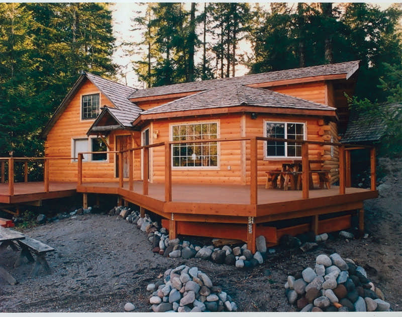 Innovative rustic exteriors cabin life for Cheap siding options