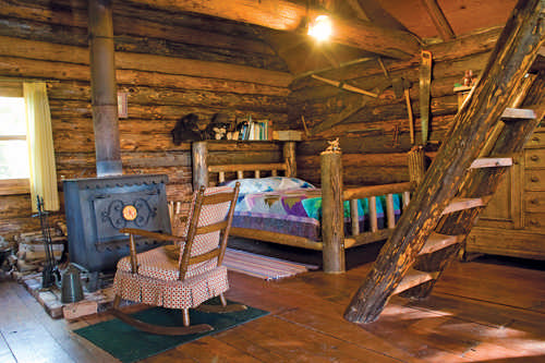 Merveilleux ... In Lieu Of A Full Staircase Saved Valuable Floorspace In The One Room  Cabin. The Woodburning Stove, Left, Provides The Only Heat Source For The  Cabin, ...