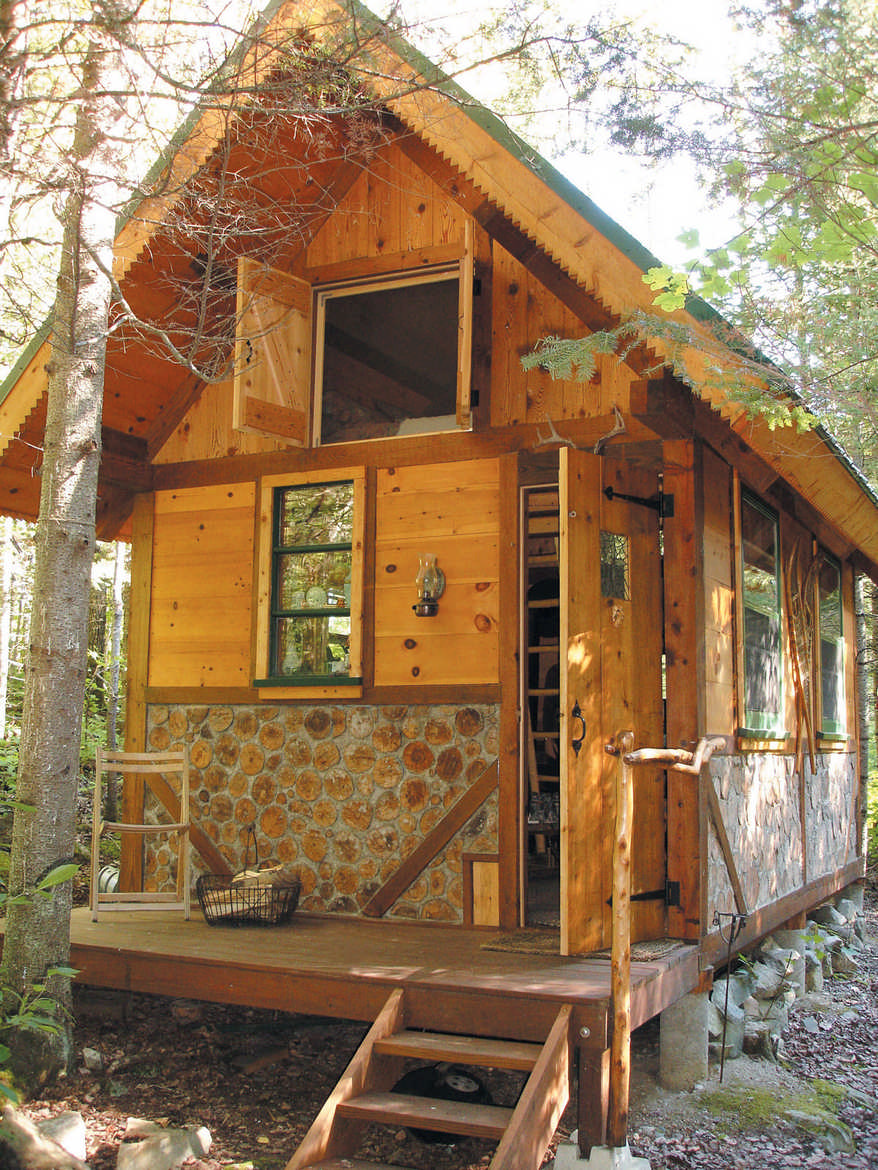 Wee cabins thoreau revisited for Cordwood house cost