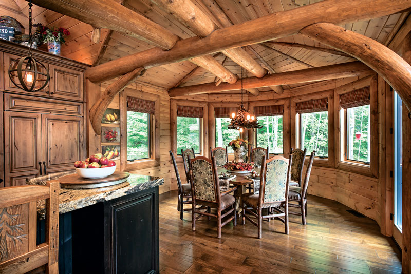Dining-Unique-Cabinetry-Wood-Flooring-Interior-Dowell-Golden-Eagle-Log-Homes-7