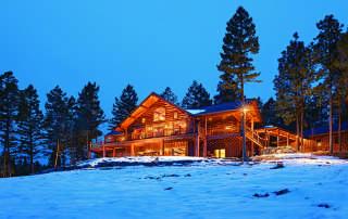 Montana log home