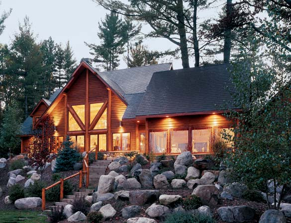 Low-Impact Log Home Wisconsin
