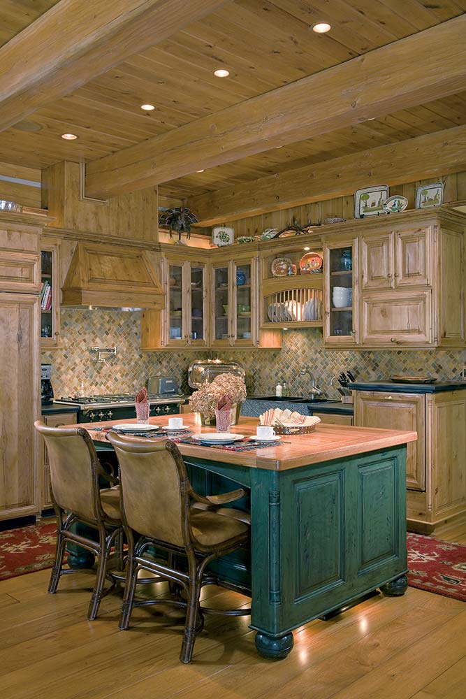 Log Home of the Year Kitchen
