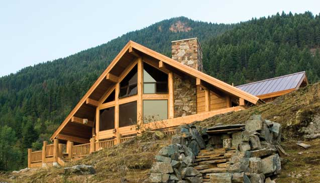 Frontier Homes Inc The Shoshone Log Home