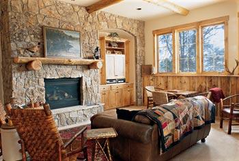 log-home-basement