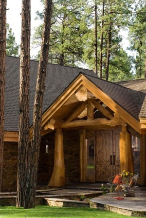A log home in the white mountains of arizona for Extravagant log homes