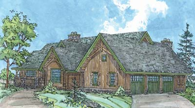 The willow log home by rocky mountain log homes for Rocky mountain home builders