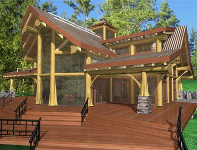 Best log plan over 2 500 square feet the cortes for 2500 sq ft log home plans