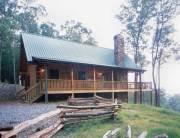 small log home exterior