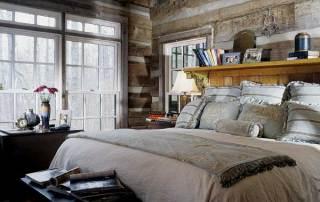 vintage-log-home-bedroom