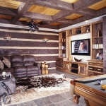 texas_log_home_game_room_tv