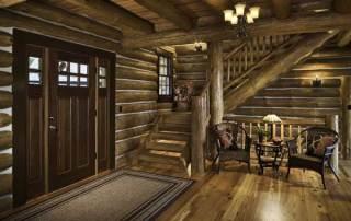 western-virginia-log-home-foyer
