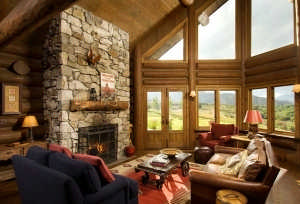 Idaho-log-home-great-room