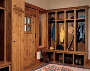 Small mudroom